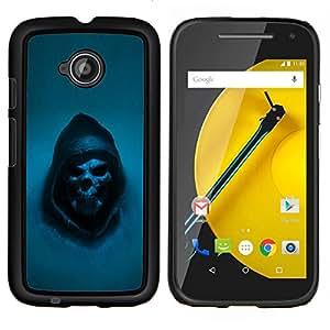 LECELL--Funda protectora / Cubierta / Piel For Motorola Moto E2 E2nd Gen -- Grim Reaper Cráneo gótico Muerte --