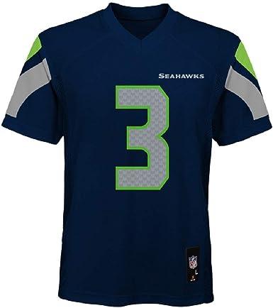 Outerstuff Russell Wilson Seattle Seahawks NFL Kids 4-7 Navy Blue Home Mid-Tier Jersey (Size 4)