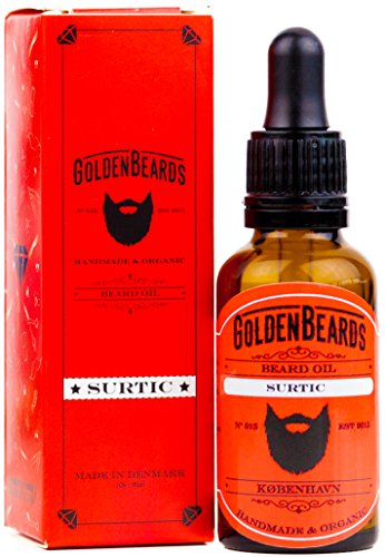 Premium Organic Golden Beards Oil - SURTIC 30ml Oil - The perfect Beard oil for sensitive skin - Best Beard products maintenance - We Manufacture Organic beard oil for men - We make Premium Beard Pro