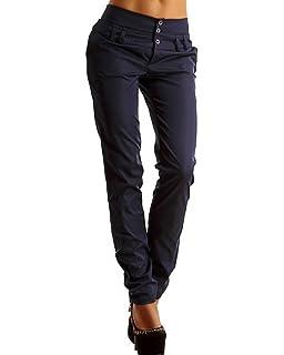 Minetom Femme Casual Taille Haute Minces Slim Jambières Crayon Pantalon  Skinny… f158d81a88c7