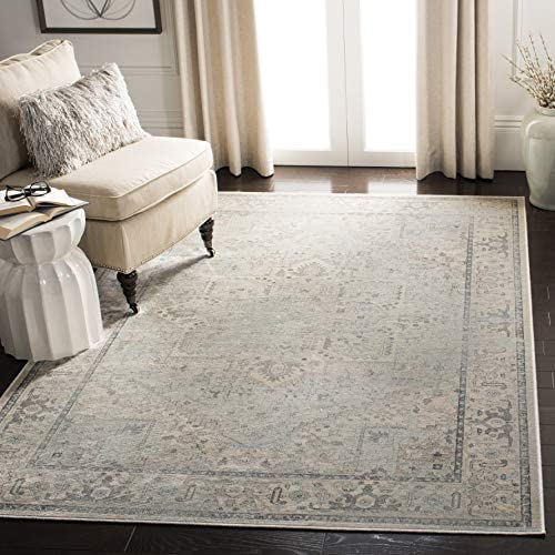 Safavieh Vintage Premium Collection VTG114-7660 Transitional Oriental Light Blue Distressed Silky Viscose Area Rug 8' x 11'2″