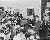 President Truman announces Japan's surrender. Washington, DC, August 14, 1945 8''x10'' Photo Print 8x10