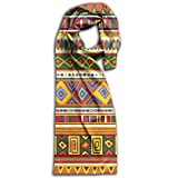 Unisex Ethnic Africa Art Colorful Pattern Plain Knitted Warm Winter Outdoor Scarf For Adults