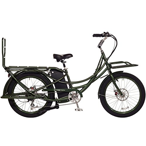 Pedego Stretch Electric Cargo Bike - Olive - 48v 17Ah Battery
