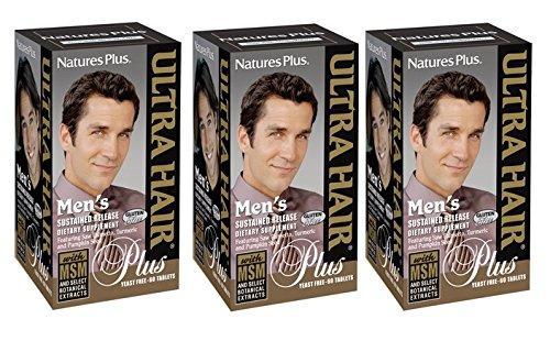 ウルトラヘア プラス男性用 3本セット Men's Ultra Hair Plus[海外直送品] B007A2ZUP6