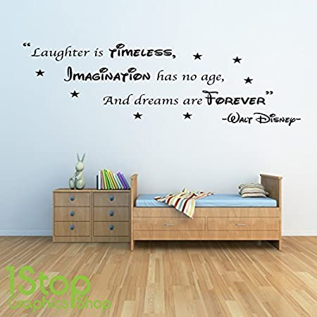 High Quality 1Stop Graphics Shop   WALT DISNEY WALL STICKER QUOTE   KIDS BOYS GIRLS HOME WALL  ART