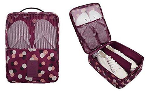 1PC Fashion Travel Portable Shoe Bags Multicolor Storage Organizer Bag for Men Women (Purple) by erioctry (Image #2)