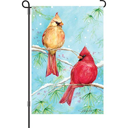 12 In. Flag - Winter Cardinal (Sided Premier Banner Flag 2)