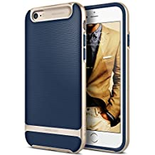 iPhone 6S Plus Case, Caseology [Wavelength Series] Textured Pattern Grip Cover [Navy Blue] [Shock Proof] for Apple iPhone 6S Plus (2015) & iPhone 6 Plus (2014) - Navy Blue