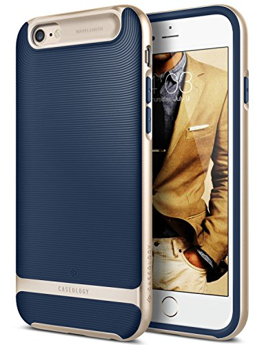iPhone 6S Plus Case, Caseology [Wavelength Series] Slim Fit Military-Grade Drop Protection [Navy Blue] for Apple iPhone 6S Plus (2015) & iPhone 6 Plus (2014)