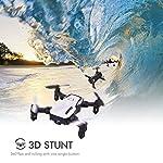 SIMREX X300C 8816 Mini Drone RC Quadcopter Foldable Altitude Hold Headless RTF 360 Degree FPV Video WiFi 720P HD Camera…