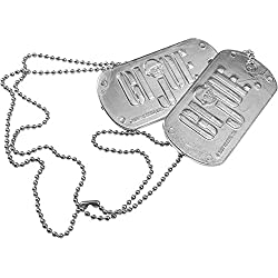 Military GI Joe Dog Tags Costume Prop