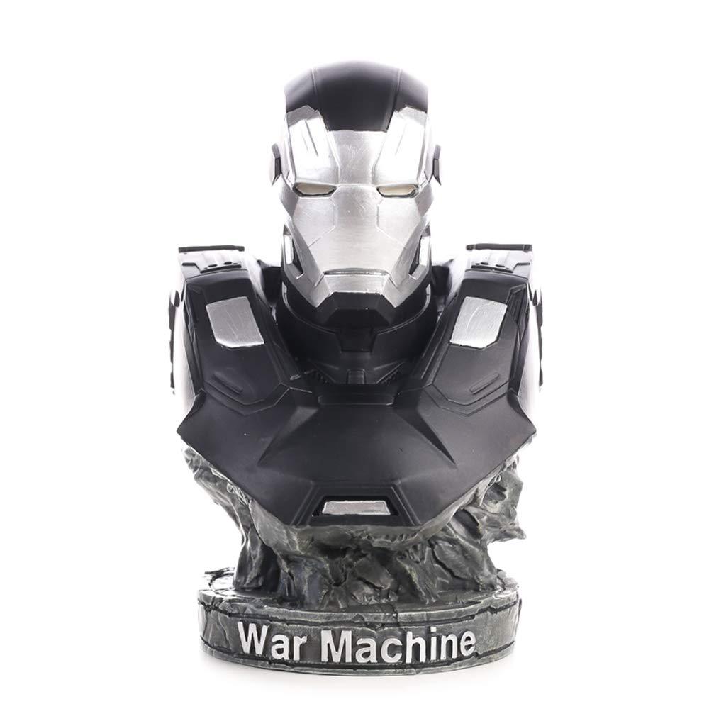 XJZxX アニメキャラクターのおもちゃ17センチアートワークpvcホームデコレーションオフィスクラフト戦争機械像モデル絶妙な贈り物、半身記念コレクション B07PM44LYK