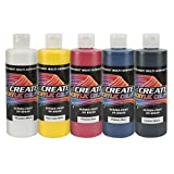 Createx Colors 2039-08 Acrylic Primary Set (5 Colors), 8 oz