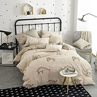 DACHUI Cotton bed sheets - 1800 beds fade, stain resistant - Hypoallergenic - 4 units (youth fashion queen 1-P).