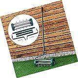 Rolling Garden Lawn Aerator Roller Home Grass Steel Handle Green New Heavy Duty