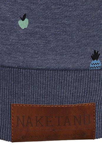 Naketano Female Zipped Jacket Zucchini beste Gurke Bluegrey Melange ON8J0edjR7
