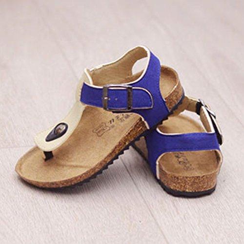 Sandalias para Unisex Niños Sandalias Sand para Niños Azul Albaricoque