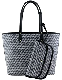 Large Reversible Tote Bag with Geometric Pattern