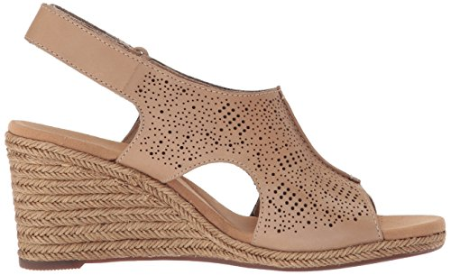 Clarks Womens Lafley Rosen Platform, Sand Leather, 6 Medium US