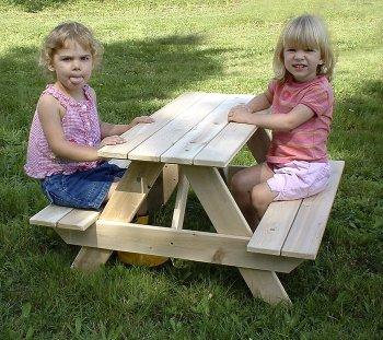 Element Treatment Table (Toddler Picnic Table, White Cedar)