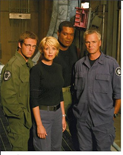 Stargate SG-1 Cast Judge Shanks Tapping Anderson by Gate 8 x 10 Photo