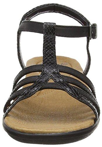 Clarks Manilla Porta - Sandalias Mujer Negro (Black Leather)