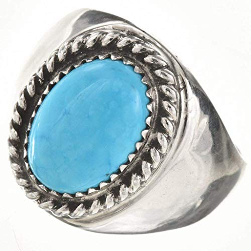 (Navajo Silver Gemstone Mens Ring Your Choice Turquoise Lapis Onyx 0049)