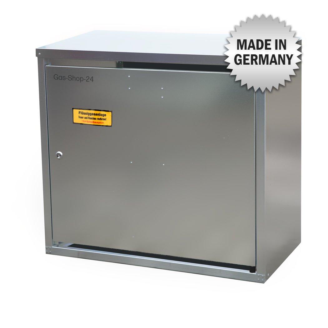 2 x 11 kg Propangas Flaschenschrank / Gasflaschenschrank verzinkt OHNE RÜ CKWAND (geeignet fü r 3-, 5, 10, 11 kg Gasflaschen - Gasschrank Schutzschrank) Gas-Shop-24