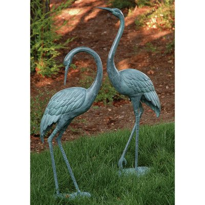 SPI Home 31291 Medium Garden Crane Pair Sculpture