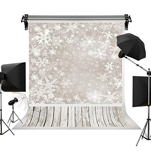 Kate 5x7ft/1.5x2.2m Holiday Christmas Backdrops Photography Frozen Snow Wood Floor Background Children Photo Studio Backdrop -