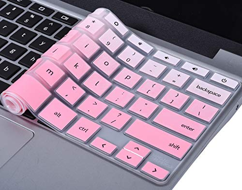 CaseBuy Keyboard Cover Compatible 11.6 Samsung Chromebook 3 XE500C13 XE501C13 / Samsung Chromebook 2 XE500C12 11.6 inch/Samsung Chromebook Plus V2 2-in-1 XE520QAB 12.2, Gradual Pink