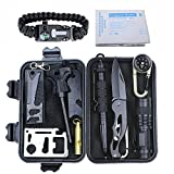 AIGOROSE Mens Survival Kit 11-in-1 Multi Kit Gear Gift for Hiking/Biking/Climbing/Hunting/Traveling