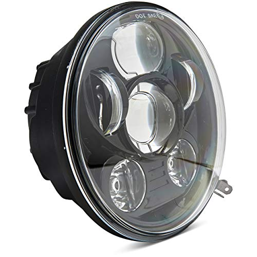 ANR 2019 Motorcycle 5-3/4 5.75 LED Headlight for Harley Davidson 883,sportster,triple,low rider,wide glide Headlamp Projector Driving Light-Black