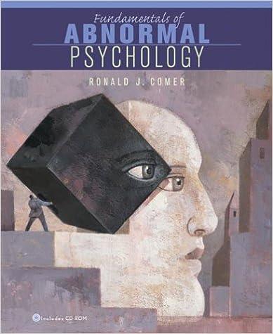 Amazon Fundamentals Of Abnormal Psychology Student Activity