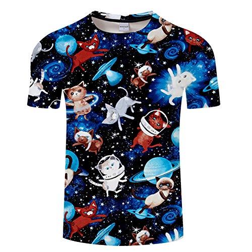 Jonyn T-Shirts Men's Top Short Sleeved Soft Cotton/Polyester Tee Cat S -