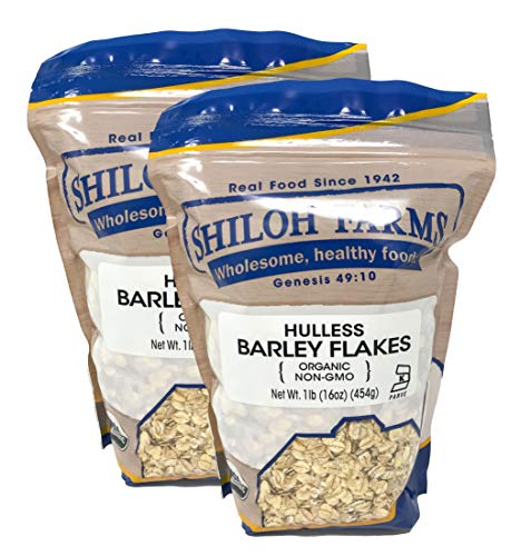 Shiloh Farms - Organic Hulless Barley Flakes 16 Ounce - 2 Pack