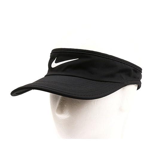 Nike Unisex Featherlight Adjustable Visor Hat, Black