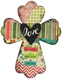 Enesco Gregg Gift Where The Heart is Cross Love Walldecor, 8''