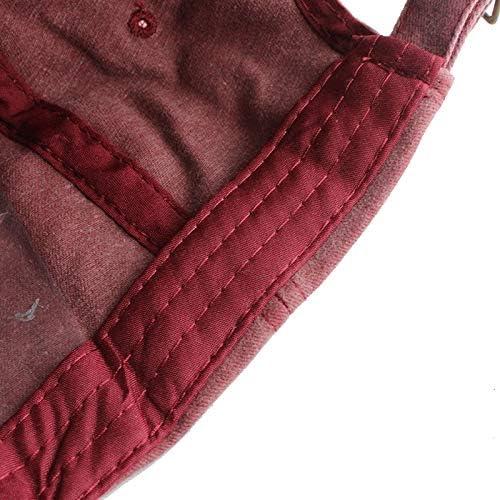 Shaoqingren FLB 100/% Coton lav/é Casquette Mode d/ét/é Casquettes de Baseball Hommes Chapeaux Broderie Papa Chapeau pour Hommes Femmes Gorras F129,Rouge 01