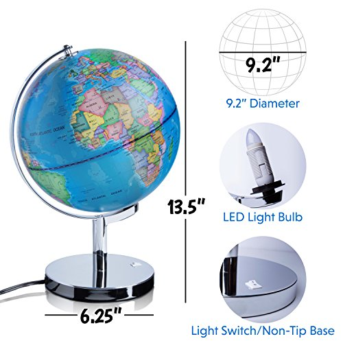 Well wreapped 3 in 1 illuminated world globe nightlight and well wreapped 3 in 1 illuminated world globe nightlight and constellation globe gumiabroncs Image collections
