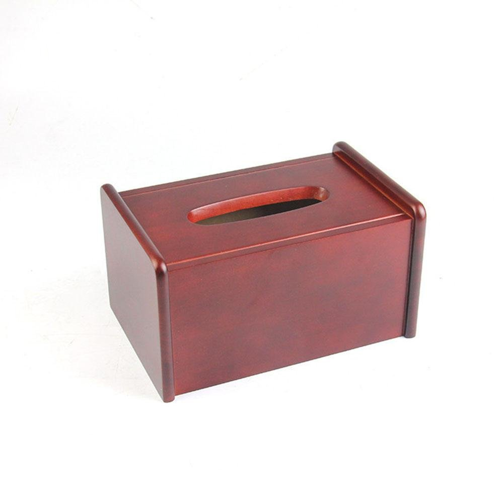 Fashion Wooden Tissue Box Cover Handmade for Home Office Car Decor , wine red , 211411.5cm