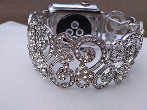 Rhinestone Apple Watch Band 38mm, bling , 42 mm rose gold Silver Apple iWatch Band 38 mm Bracelet, by Tamgus