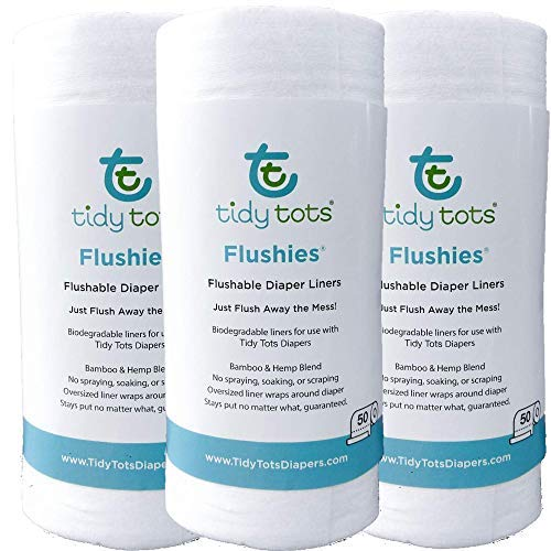 Tidy Tots Diapers Flushies Biodegradable Cornstarch Diaper Liners (3 Pk One Size) by Tidy Tots Diapers