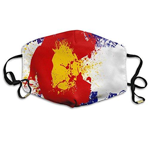 Watercolor Colorado Flag Remix Unisex Comfy Reusable Face Mouth Mask Dustproof - Men 2018 Best Sunglasses S