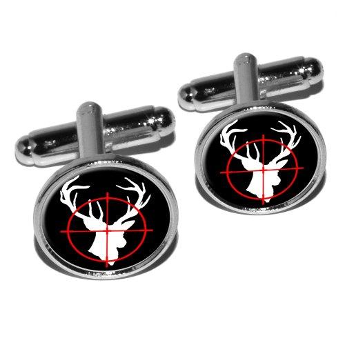 Deer Buck Hunting Round Cufflink