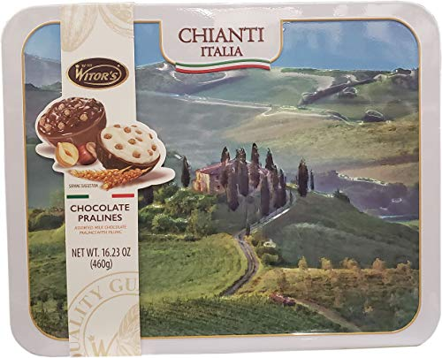 - Witor's Chocolates Italian Chocolate pralines Tin, 16.23 Ounce