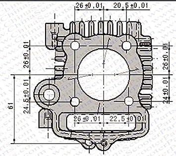 54mm Big bore kit cylinder piston ring gasket change 110cc to 125cc Dirt Pit ATV