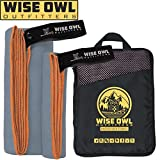 Wise Owl Outfitters Camping Towel Ultra Soft Compact Quick Dry Microfiber - Great for Fitness, Hiking, Yoga, Travel, Sports, Backpacking & The Gym - Free Bonus Hand Towel 30x60 GY