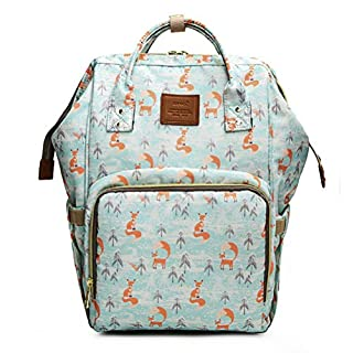 Multi-function Large Capacity Mummy Maternity Nappy Bag Portable Waterproof Travel Backpack Baby Diaper Bags for Baby Care (Fox)